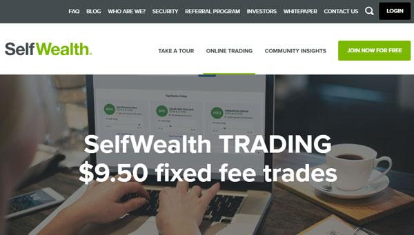 SelfWealth homepage