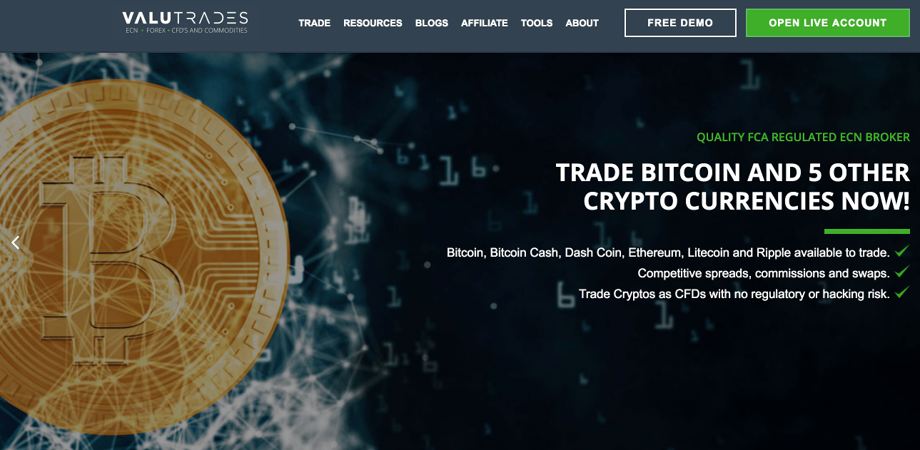 Valutrades Homepage