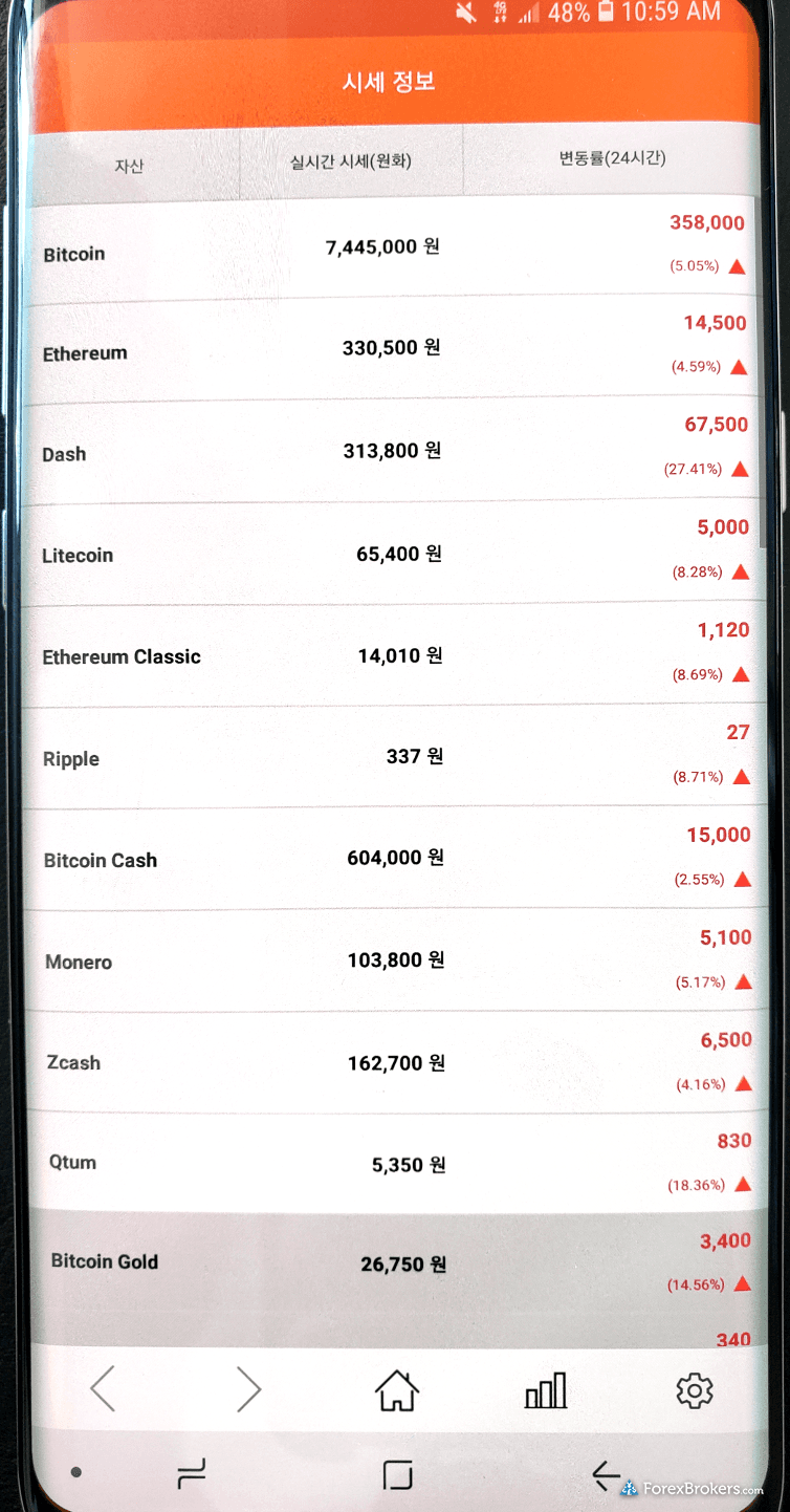 Bithumb mobile app android