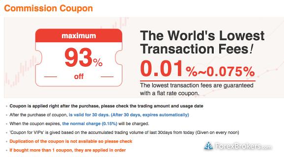 Bithumb commission discount
