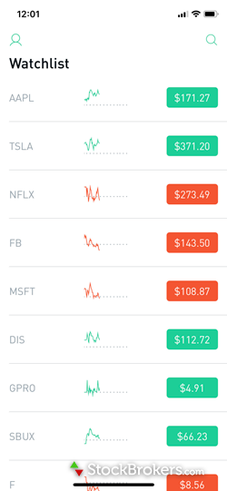 Robinhood watch list