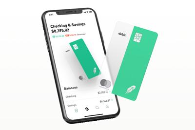 robinhood checking savings debit card