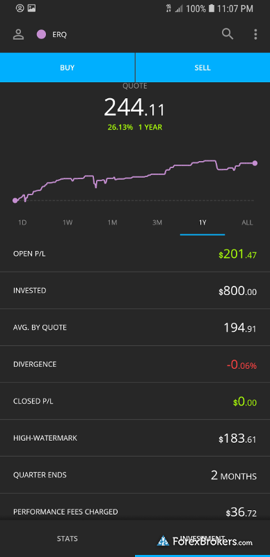 Darwinex mobile app performance