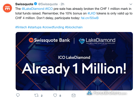 Swissquote_Lake_Diamond_ICO_offering