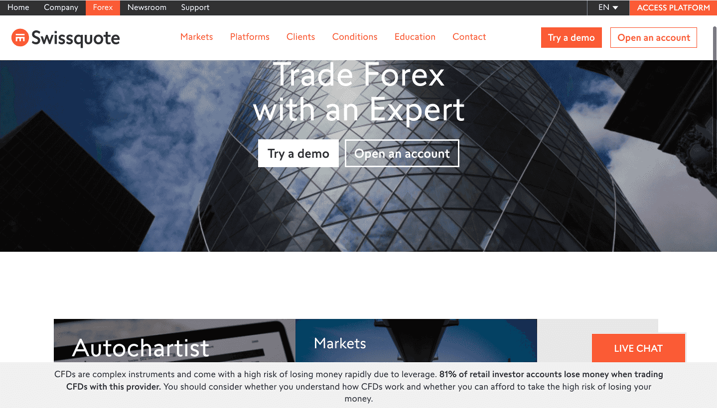 Swissquote Homepage
