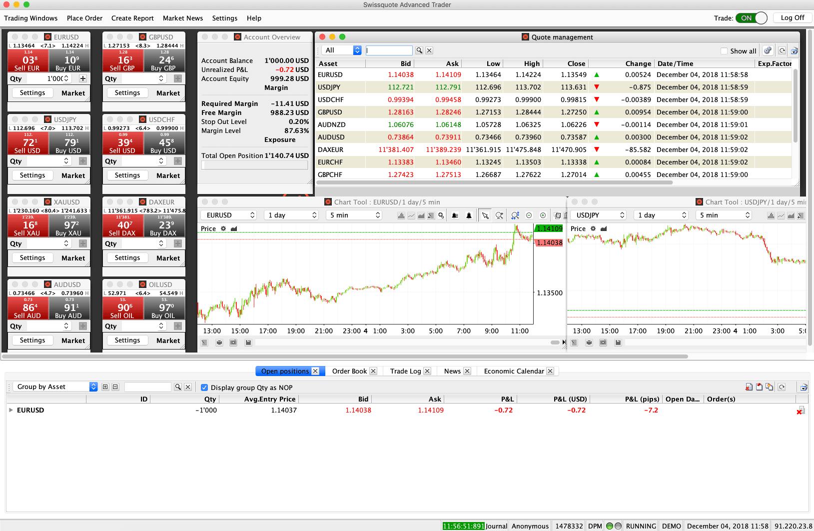 Swissquote Desktop Platform