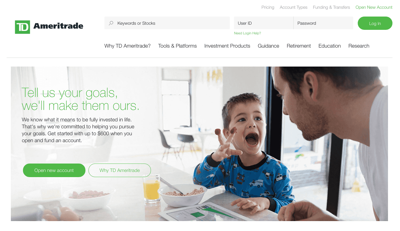 TD Ameritrade FX Homepage