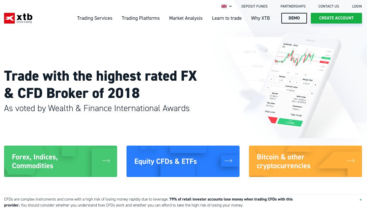 XTB Homepage