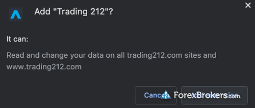 Trading212 Chrome Plugin installation