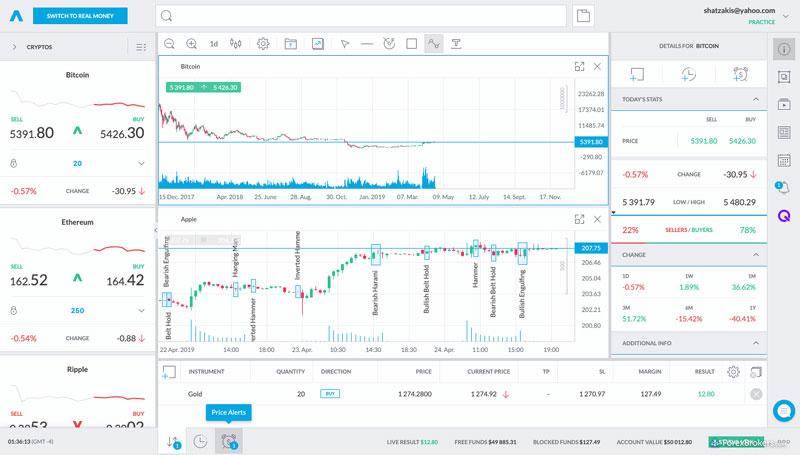 Trading212 web platform