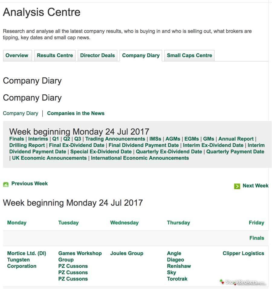 Lloyds company diary