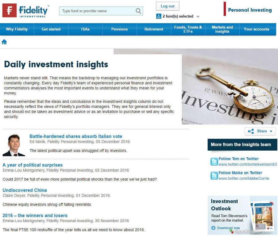 Fidelity International Trading Platform