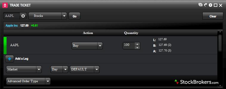 optionsxpress xtend trade ticket