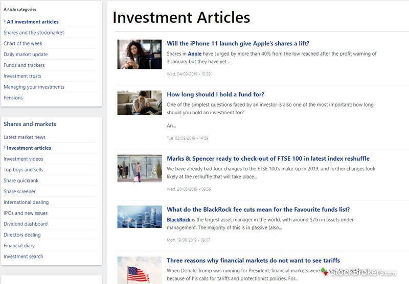 AJ Bell Youinvest In-House Articles