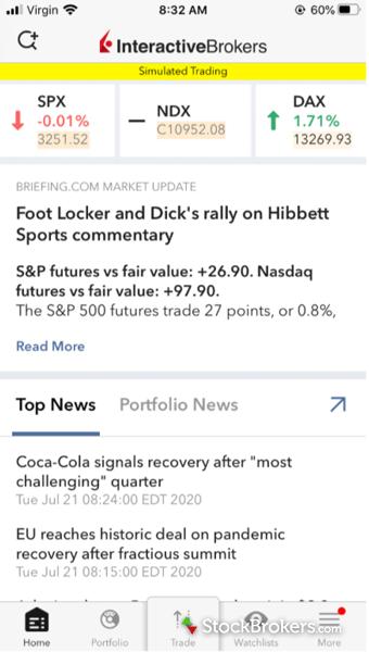 Interactive Brokers Mobile News