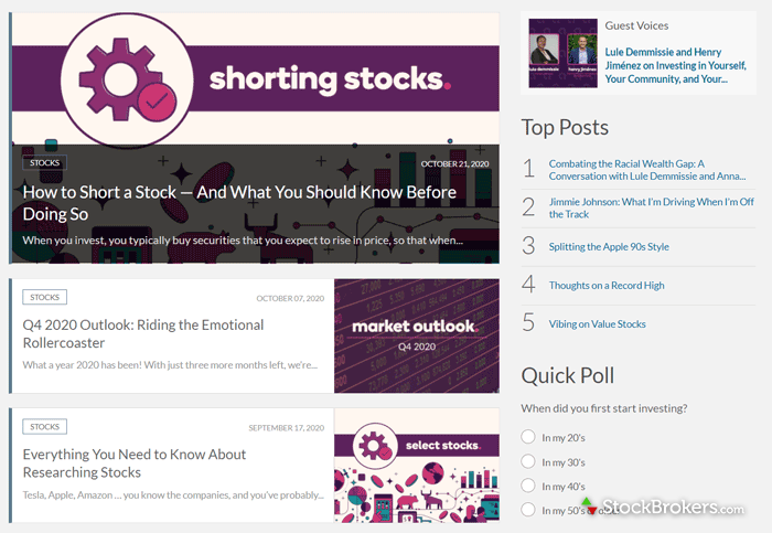 Ally Invest educational educational stock market articles