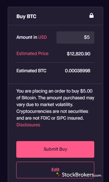Robinhood website cryptocurrency trading bitcoin
