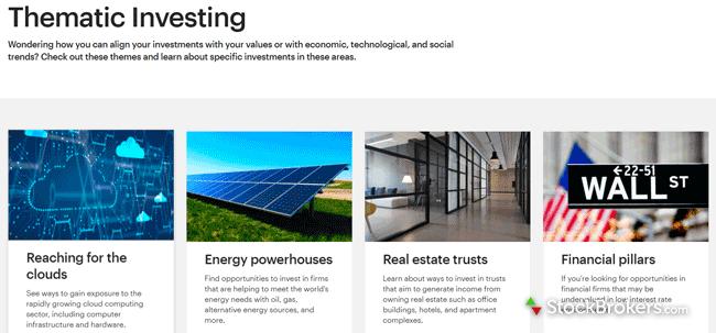E*TRADE thematic investing