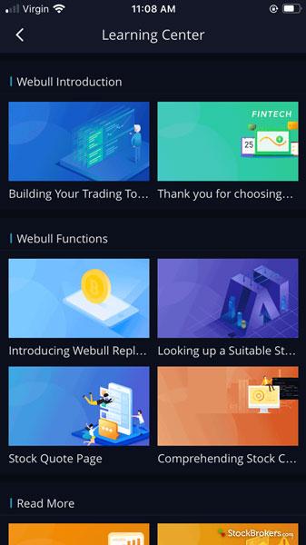 Webull Learning Center