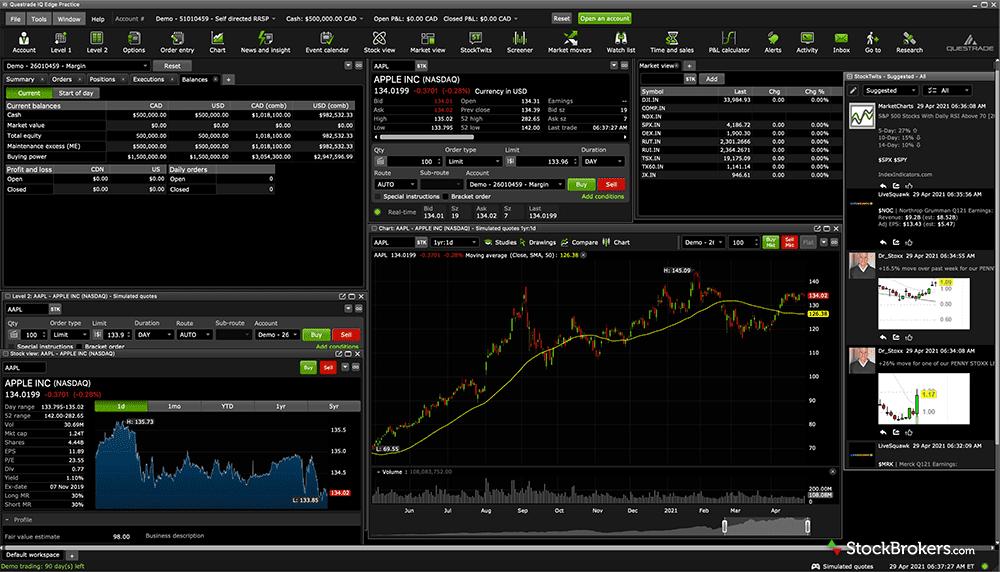 Questrade IQ Edge desktop platform
