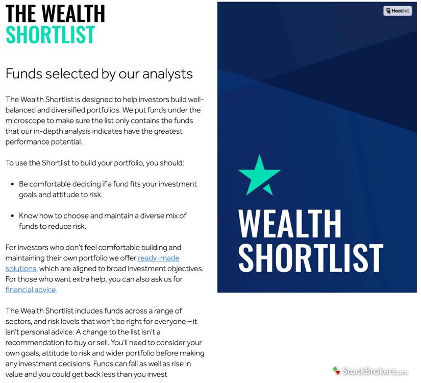 Hargreaves Lansdown Wealth Shortlist