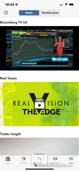 Interactive Brokers mobile media