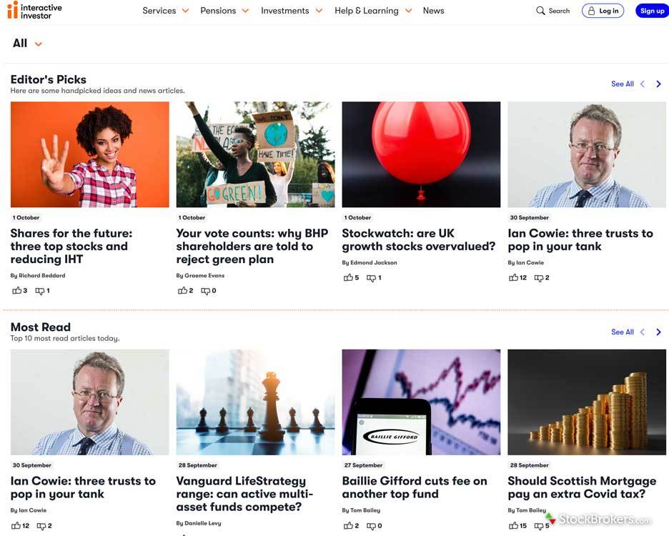 Interactive Investor editors picks